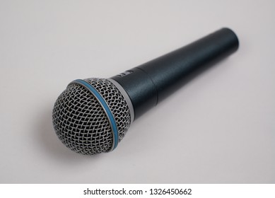 professional microphone in white background italy march 2019