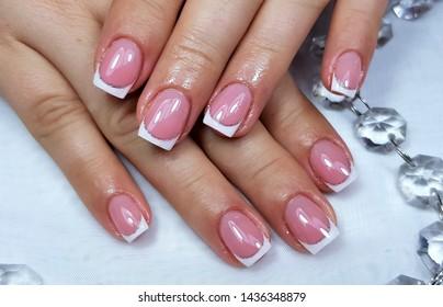 a professional modern gel manicure