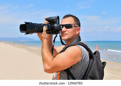 professional photographer in action