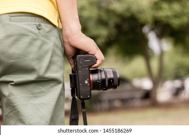 Professional photographer with his favorite camera