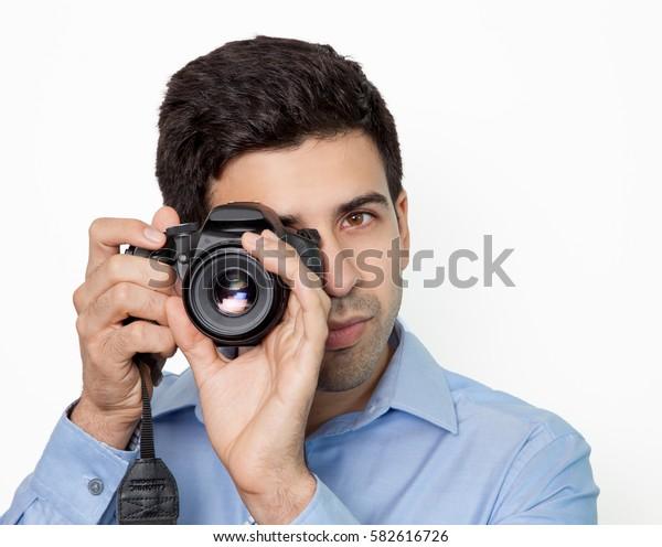 Professional photographer making shoot