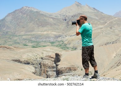 professional photographer at mountains