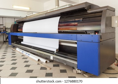 professional printing machine in printing house