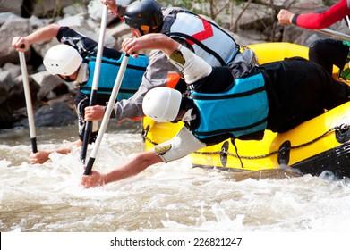 Professional rafting team