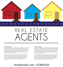 Professional real estate agents advert.
