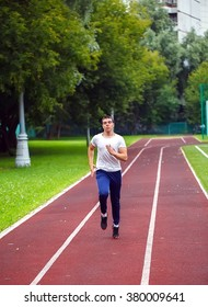 professional runner on the track