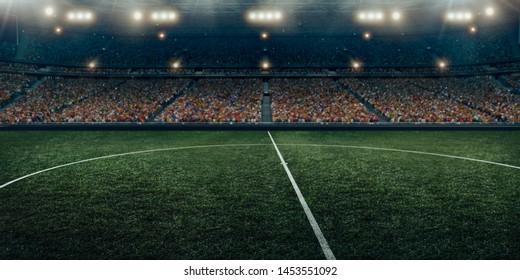 Professional soccer stadium full of spectators