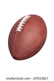 A professional style football isolated on a white background