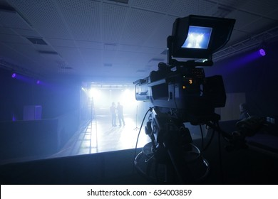 Professional TV Camera set up for a concert