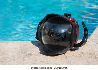 Professional underwater metal case for DSLR.