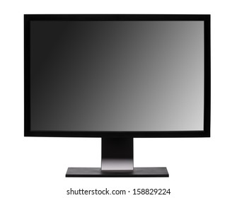 Professional widescreen monitor - isolated on white background