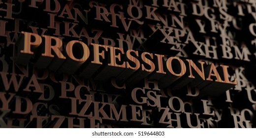 Professional - Wooden 3D rendered letters/message.  Can be used for an online banner ad or a print postcard.