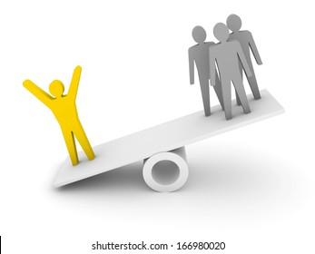 Professionalism, competence metaphor.  Concept 3D illustration.