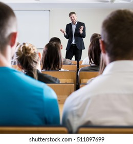 Professor giving a speech for his students
