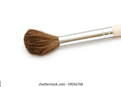 proffesional brush on neutral background (squirrel)