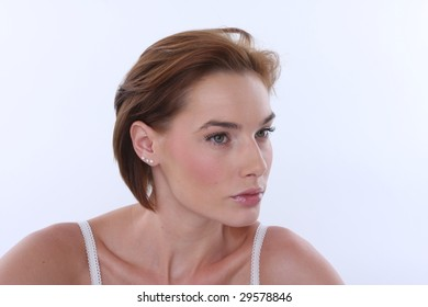 profile of confident woman