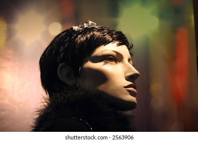 Profile of Mannequin with Colorful Background