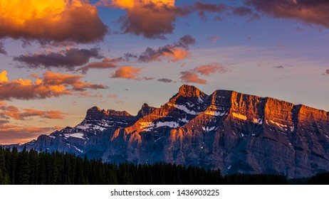 Profile of Mt. Rundle in Banff National Park