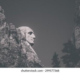 Profile of Mt. Rushmore