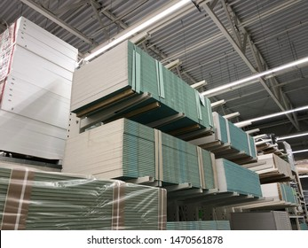 Profile for plasterboard, gypsum board, plasterboard fastening, set of building profiles, building materials, steel profiles for repair, construction works, modern building materials