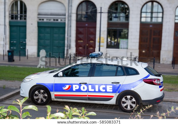 Profile Police Car France City Stock Photo Edit Now 585083371