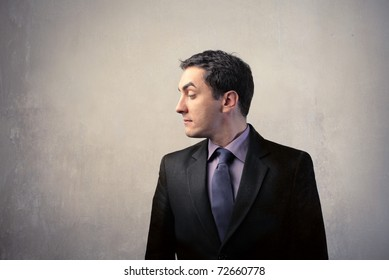 Profile of a young businessman