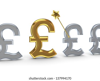 Profit concept.Isolated on white.3d rendered.