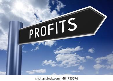 Profits signpost