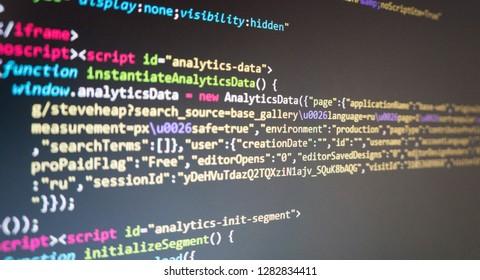 program code on the monitor