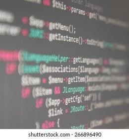 Program code - selective focus