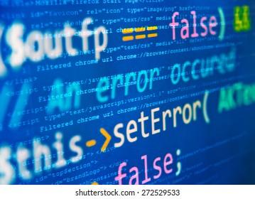 """Program code - selective focus on """"set error"""" words"""