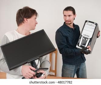 The programmer, the programmer, the adjuster - prestigious man's operation.