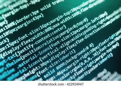 Programmer developer screen. Technology background. Programming code abstract screen of software developer. Software background. Programming code. Website programming code.
