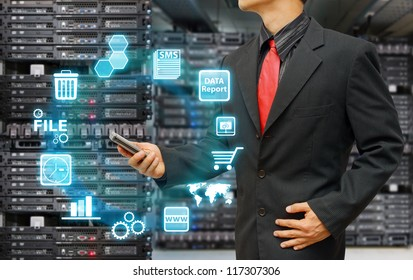 Programmer and icon control the system in data center room