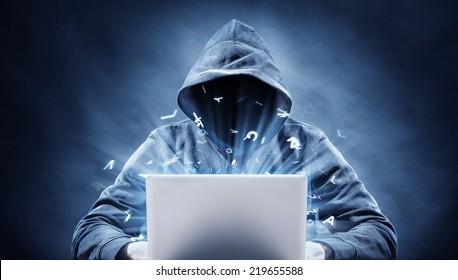 programmer on a computer
