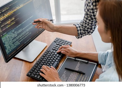 Programmer working in a software development and coding technologies. Website design.Technology concept
