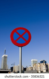 Prohibited signal on a city