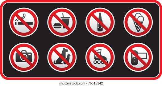 Prohibited Signs sticker. Bitmap copy my vector ID 76290817