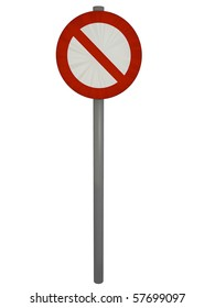 prohibition sign on the white background