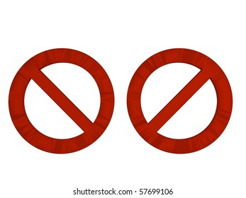 prohibition signs on the white background