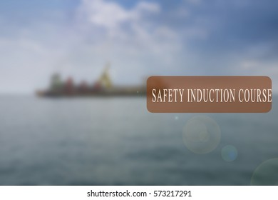 Project management conceptual word with shipbuilding activity as a background. Blurred background.