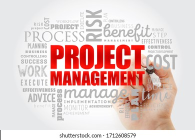 Project Management word cloud collage, business concept background