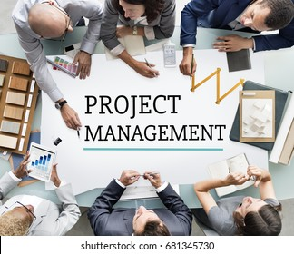 Project Management Work Process Organization Concept