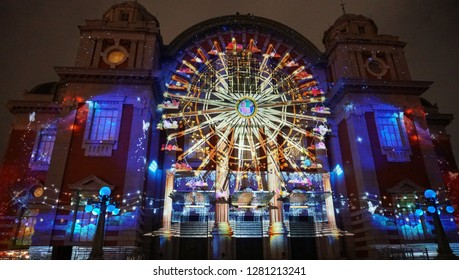 Projection mapping at Osaka city central public hall (part1)