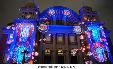 Projection mapping at Osaka city central public hall (part2)