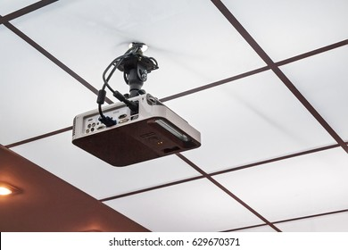Projector installed on the ceiling