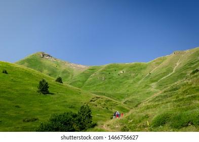 Prokletije mountain ridge in Montenegro