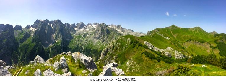 Prokletije mountains over the Grebaje valley, Montenegro