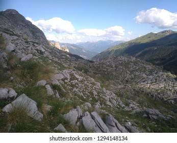 Prokletije mountains, Zla Kolata peak. Montenegro