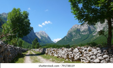 Prokletije national park in Montenegro in summer